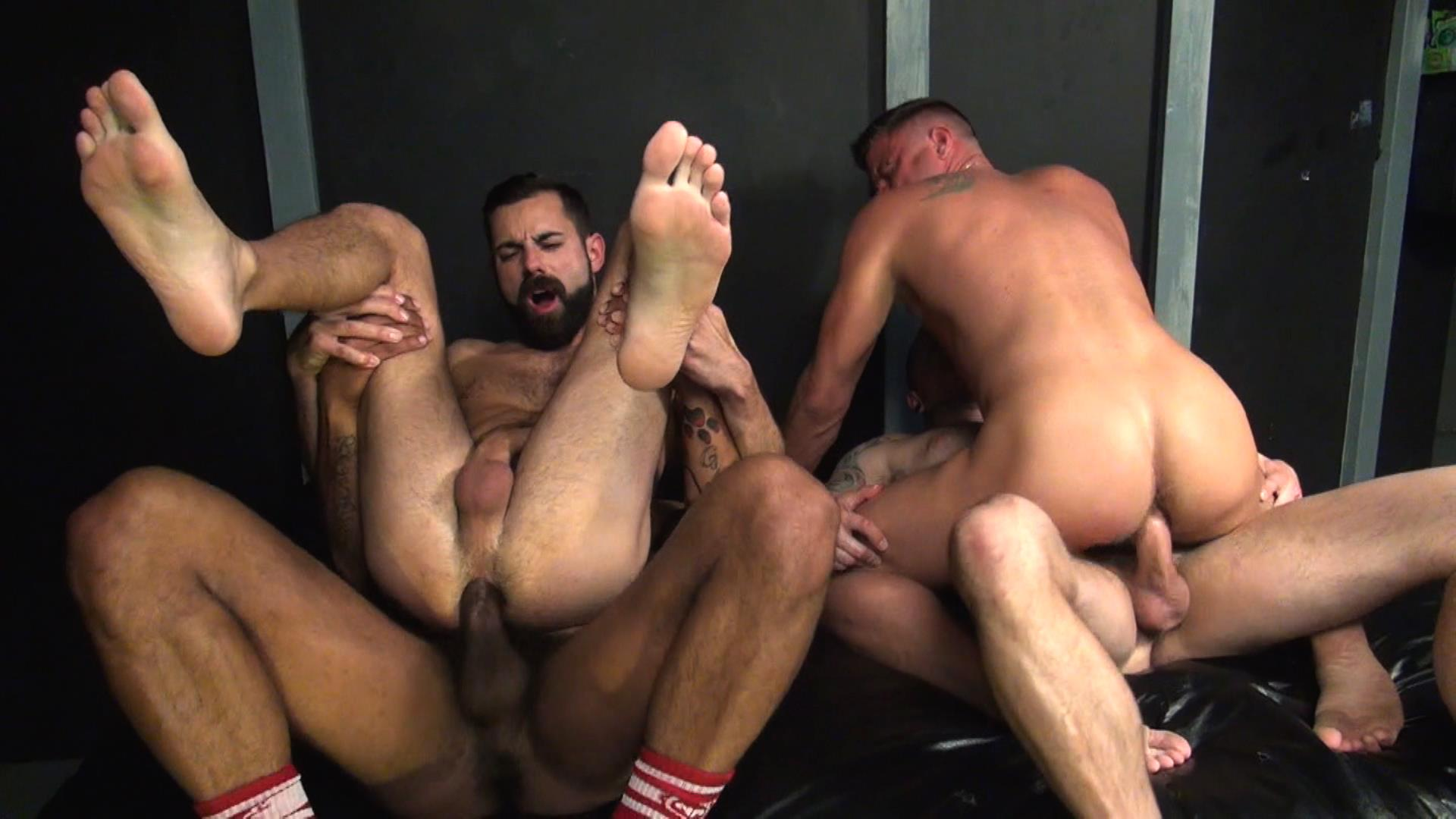 Lustful Gay Guys Fucking In Group Sex