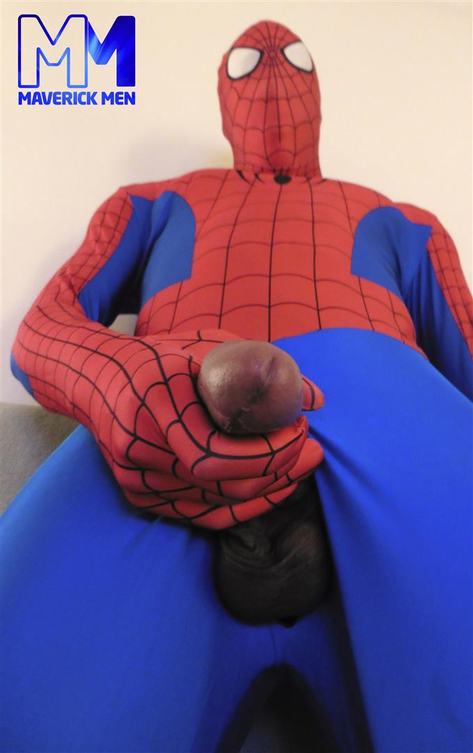 Maverick-Men-Spiderman-With-A-Big-Black-Dick-Bareback-Threesome-Amateur-Gay-Porn-08 Happy Halloween... Did You Know That Spiderman Has A Big Black Dick?