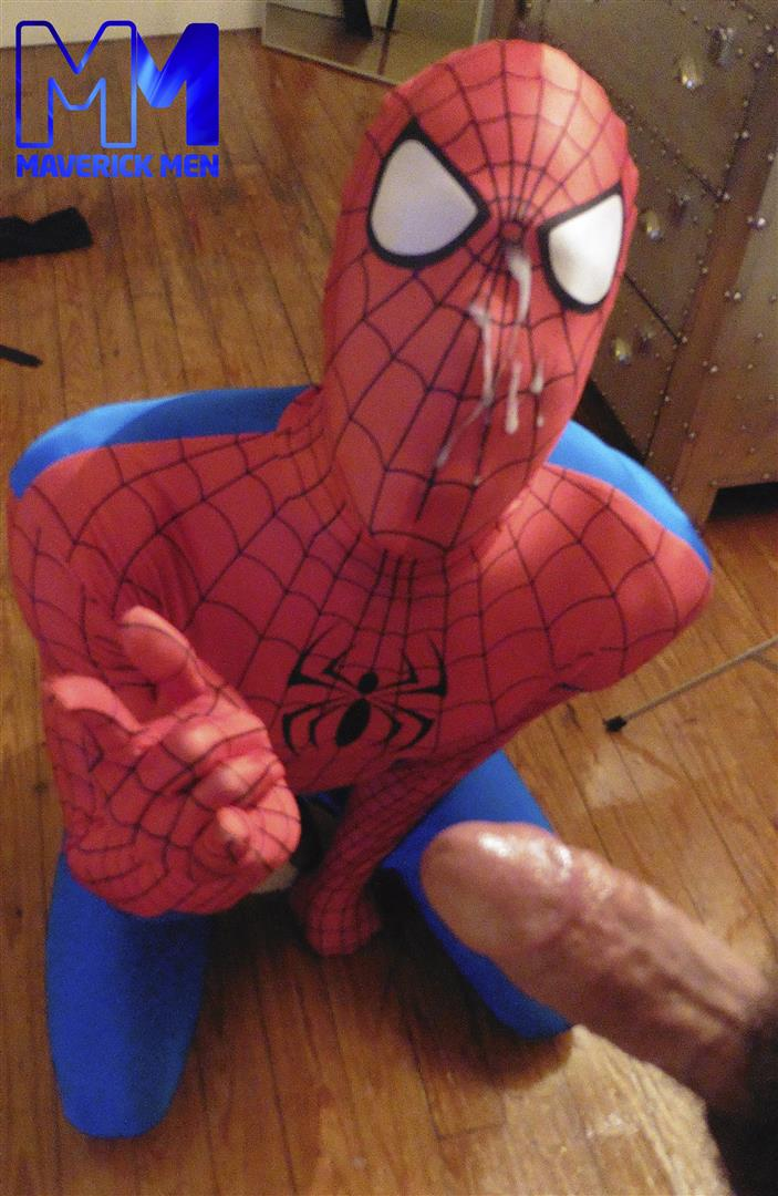 Maverick Men Spiderman With A Big Black Dick Bareback Threesome Amateur Gay Porn 13 Happy Halloween... Did You Know That Spiderman Has A Big Black Dick?