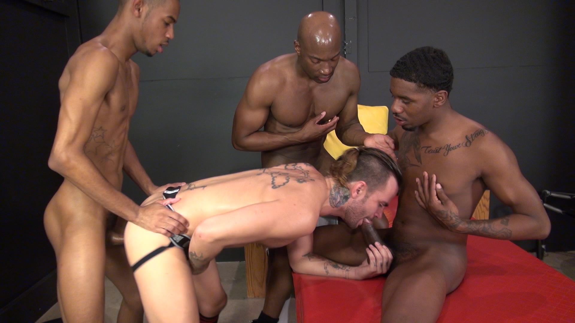 Raw and Rough Champ Robinson Lukas Cipriani Knockout Tigger Redd BBBH Amateur Gay Porn 06 White Boy Gets A Breeding By Three Big Black Dicks