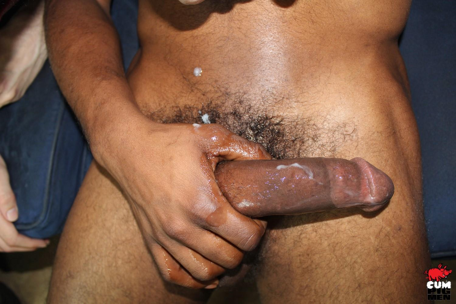 Cum-Pig-Men-Rio-Starr-Big-Black-Cock-Cum-Eating-16 Slutty White Boy Eats A Black Mans Big Load Of Cum