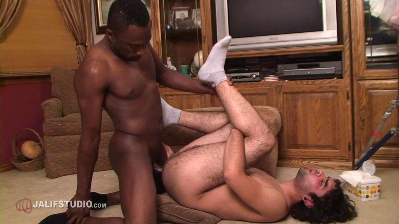 Jalif Studio Hot Boi and Gabriel Blue Interracial Bareback Fucking 02 Big Thick Black Cock Bareback Fucking A Hairy White Boys Ass