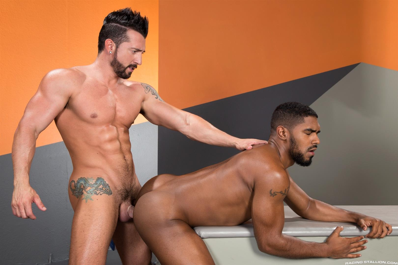 Raging Stallion Jimmy Durano and XL Interracial Gay Sex Video Free 12 Jimmy Durano Fucks XLs Black Ass With His Big Fat Cock