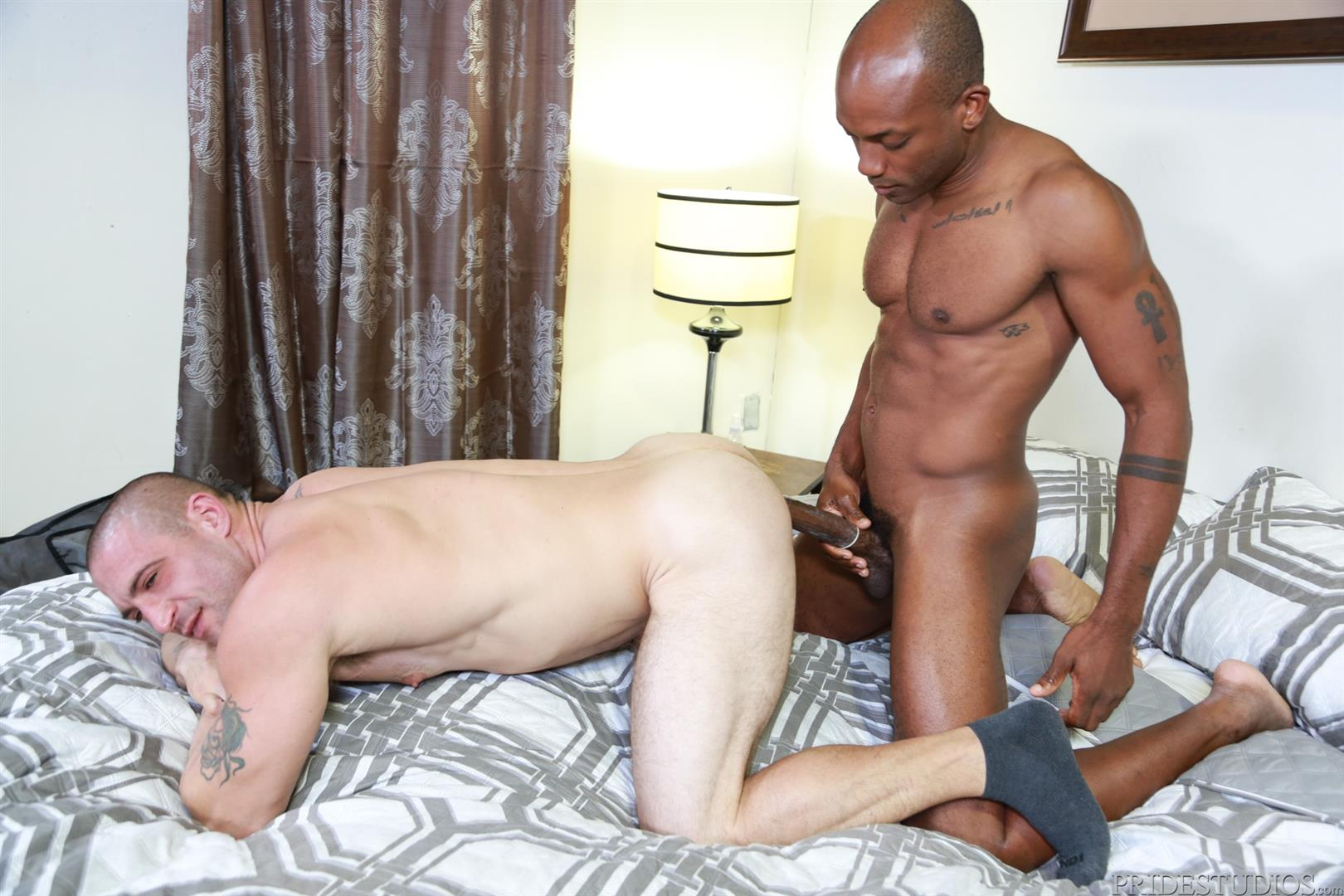 Extra-Big-Dicks-Osiris-Blade-and-Ceasar-Camaro-Big-Black-Cock-Interracial-Gay-Sex-12 White Muscle Hunk Begs For Big Black Cock