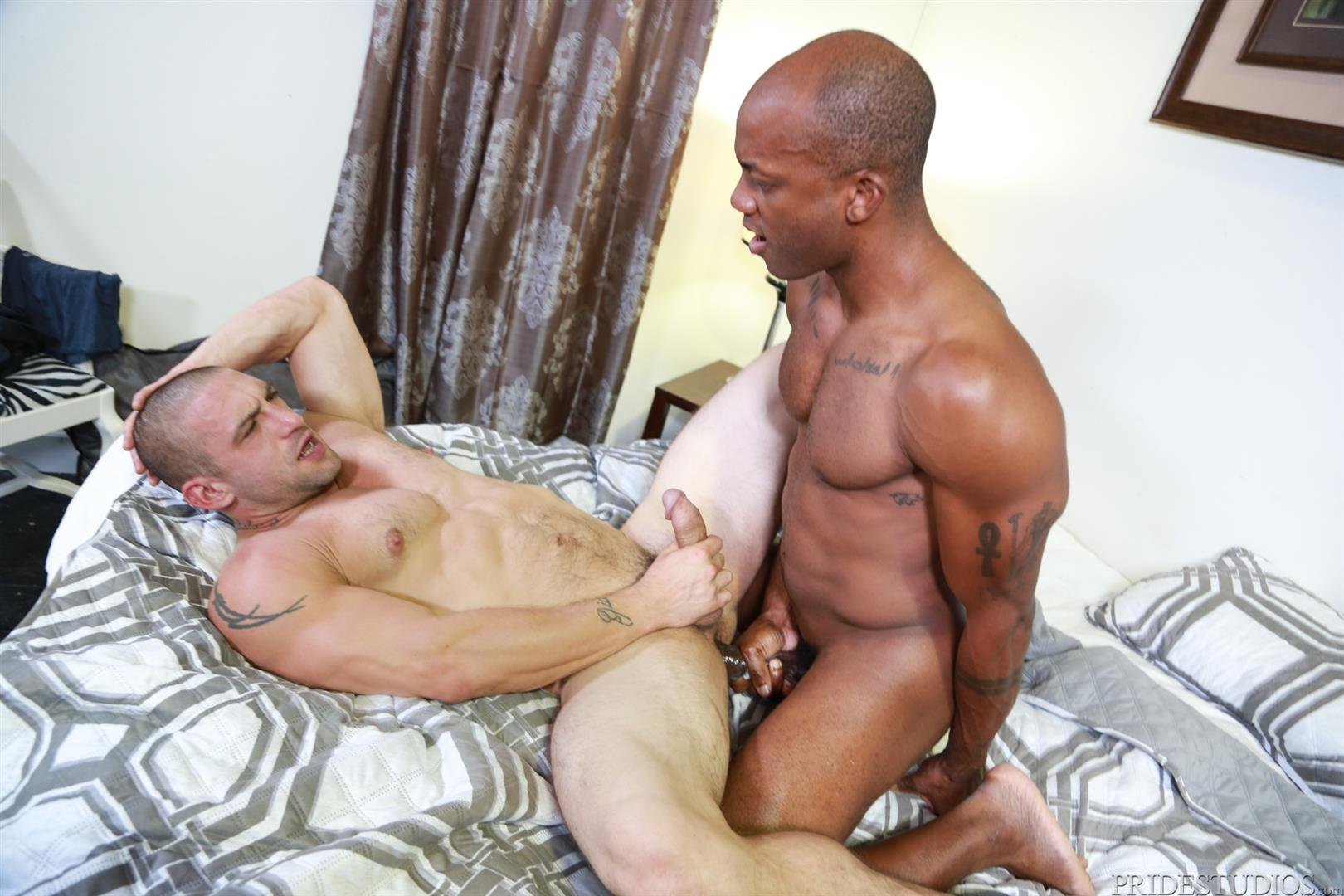 Extra-Big-Dicks-Osiris-Blade-and-Ceasar-Camaro-Big-Black-Cock-Interracial-Gay-Sex-14 White Muscle Hunk Begs For Big Black Cock