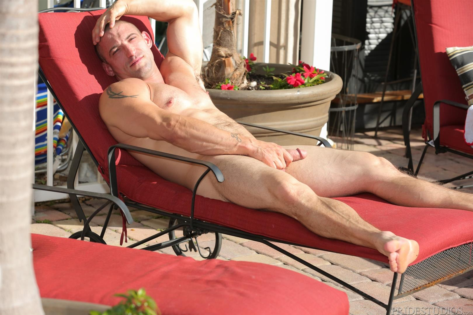 Dylan-Lucas-Timothy-Rivers-and-Ceasar-Camaro-Younger-Guy-Fucking-A-Muscle-Daddy-04 Muscular Pool Daddy Takes A Younger Cock Up The Ass At A Palm Springs Gay Resort