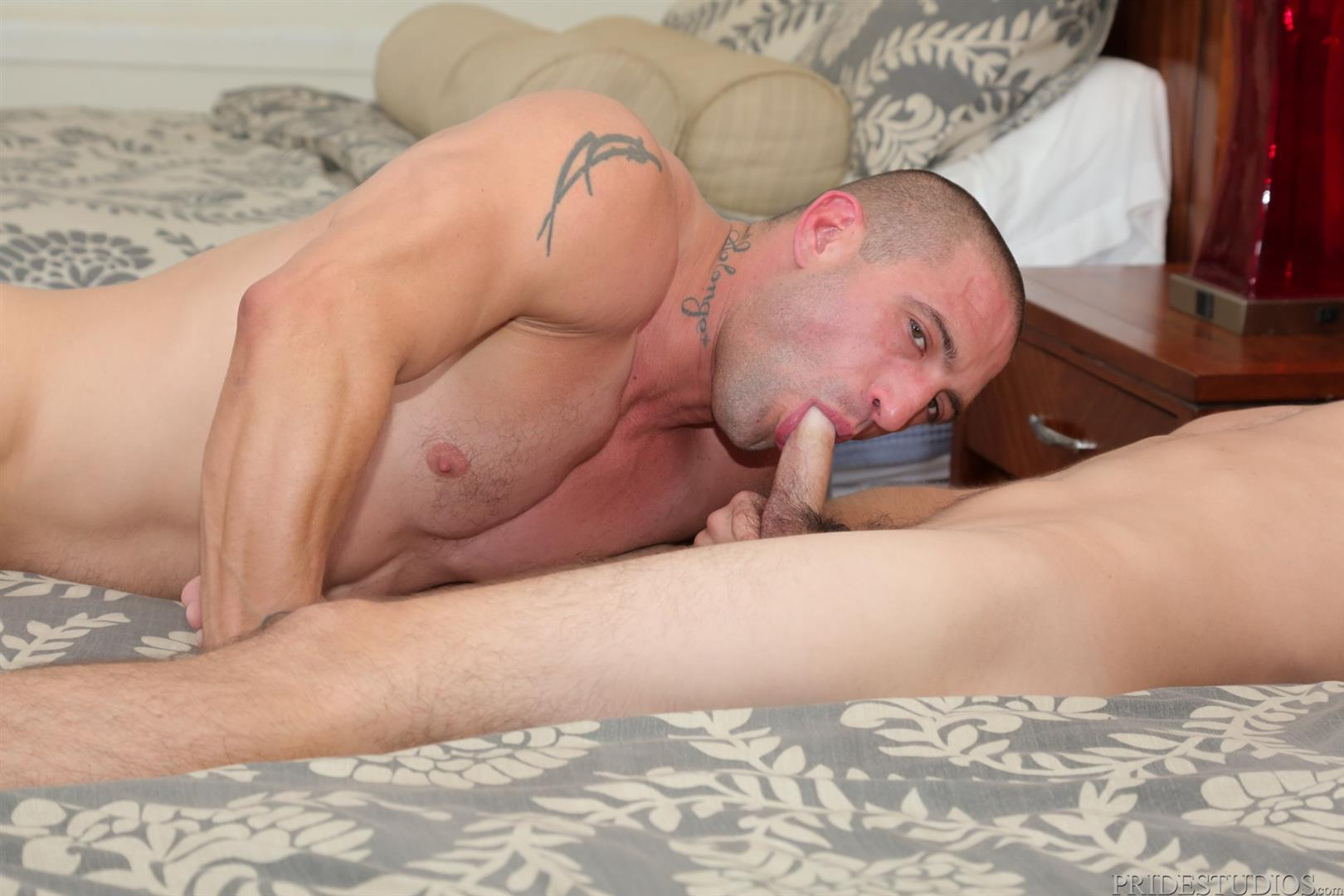 Dylan-Lucas-Timothy-Rivers-and-Ceasar-Camaro-Younger-Guy-Fucking-A-Muscle-Daddy-09 Muscular Pool Daddy Takes A Younger Cock Up The Ass At A Palm Springs Gay Resort