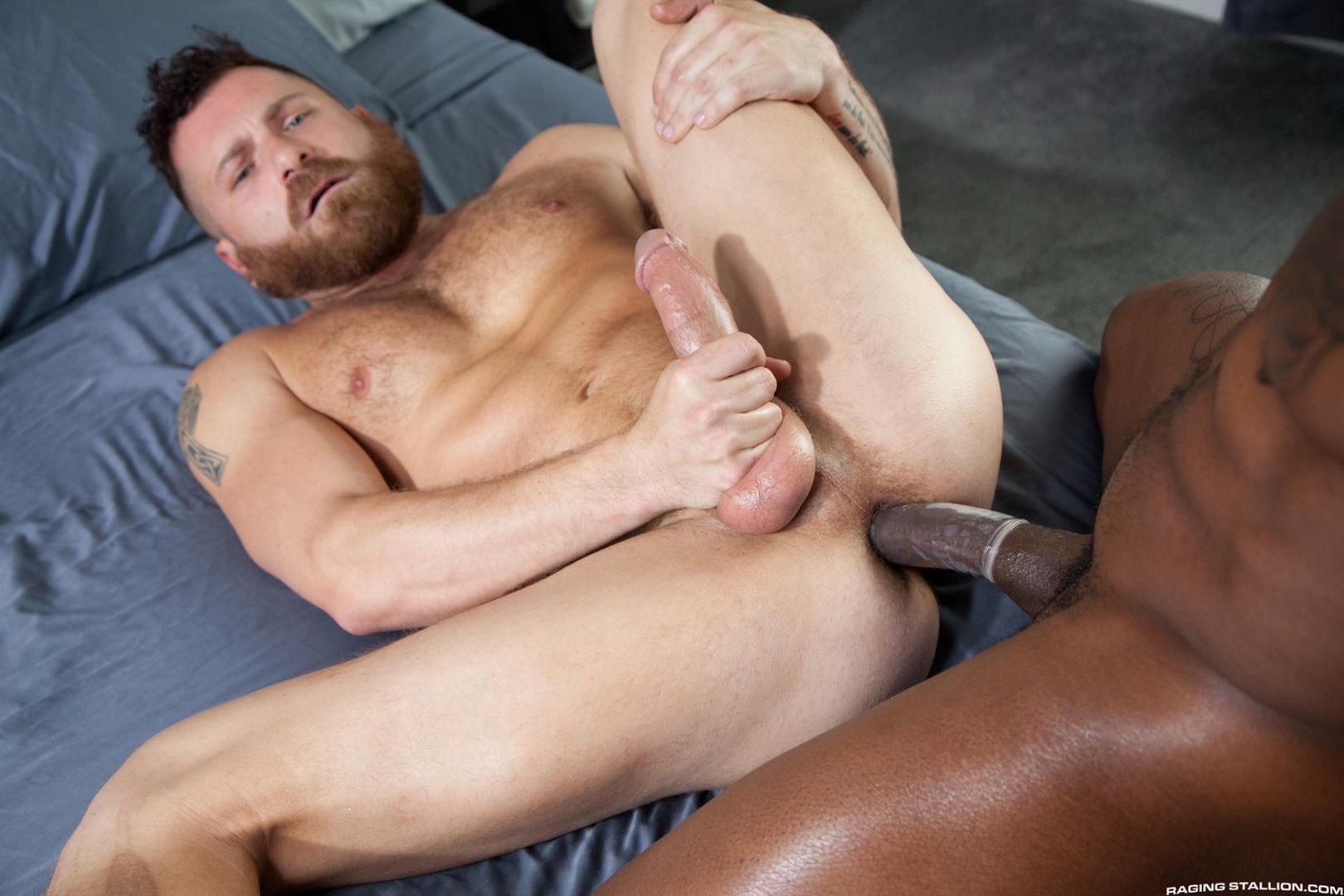 Raging-Stallion-Riley-Mitchell-and-Max-Konnor-Big-Black-Cock-Fucking-Hairy-Muscle-Bear-12 Max Konnor Fucks His Ride Share Driver In The Ass With His Big Black Dick